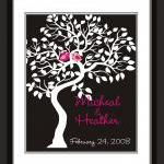 Wedding signature Tree-guest book a..