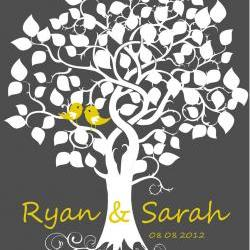 Wedding Signature Tree 16x 20 75 signatures wedding guest book   alternative poster