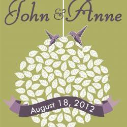 Wedding guest book alternative: wedding signature tree 150 signatures wedding tree