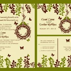 Budget Wedding Invitations Suite:  with matching RSVP post card