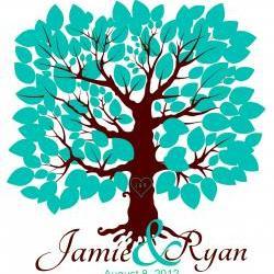 Custom Wedding Signature Tree 16x20 holds 75 signatures, guestbook alternative, anniversay gift,